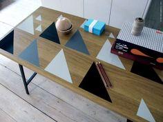 Ikea table decorated
