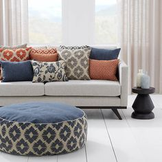 We spoke to Tom and Cam Warwick from Warwick Fabrics Australia about the trends they have seen over the past 50 years of trading as well as what to expect next year. Grey Furniture, Furniture Design, Blue Family Rooms, Warwick Fabrics, Custom Made Curtains, Luxury Decor, Room Accessories, Home Decor Fabric, Soft Furnishings