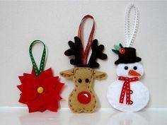Adornos de Navidad con fieltro: fotos manualidades
