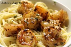 Skillet Garlic Shrimp Linguine: shrimp, salt, pepper, olive oil, garlic, butter, parsley, lemon juice