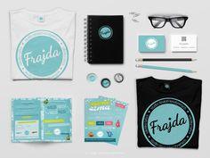 Frajda | identyfikacja wizualna - logo + materiały brandingowe #branding #visual #identity #logo