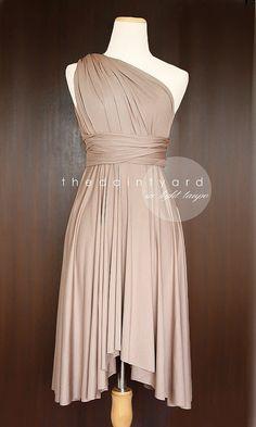 Yellow Bridesmaid Convertible Dress Infinity Dress by thedaintyard