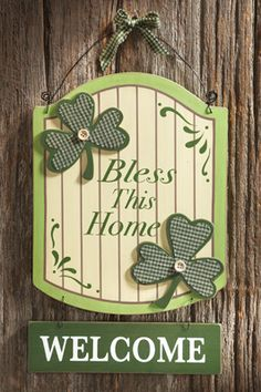 Irish Bless This Home Welcome Plaque