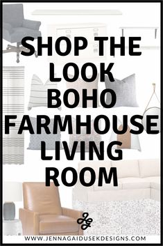 Shop the look! Order everything in this room and get more furniture and decor options ready for you to order and start designing your boho, modern farmhouse living room! modern farmhouse decor, family friendly sectional, pottery barn sectional, long desk, peel and stick wallpaper, wood shiplap wallpaper, modern farmhouse living room furniture home decor, west elm leather chair, recliner, etsy pillows, boho pillows, online interior design, jenna gaidusek