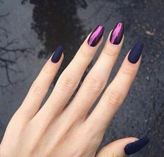 Nail art is a very popular trend these days and every woman you meet seems to have beautiful nails. It used to be that women would just go get a manicure or pedicure to get their nails trimmed and shaped with just a few coats of plain nail polish. Love Nails, How To Do Nails, Fun Nails, Hallographic Nails, Nails 2016, Nagellack Design, Dark Nails, Matte Nails, Matte Pink