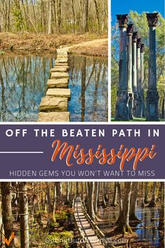 Hidden Gems and Secret Places to Visit in Mississippi - Are you taking a vacation road trip to Mississippi? Or maybe you're looking for some fun things t - Great Places, Places To See, Beautiful Places, Best Spring Break Destinations, Places To Travel, Travel Destinations, Natchez Trace, Les Continents, Us Road Trip