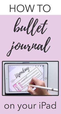 Bullet Journal On Ipad, Bullet Journal Hacks, Bullet Journals, Journal Template, Planner Template, Digital Journal, Ipad Pro, Templates, Lettering