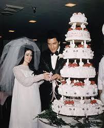 Resultado de imagem para primeiro casamento de elvis presley