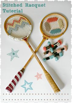 The Owls Are Hunting: Stitched Racquet Tutorial Owls, Repurposed, Recycling, Hunting, Stitch, Pattern, How To Make, Fun, Full Stop