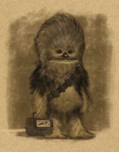 Chewie at a young age.