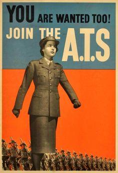 In Posters: Women At War - read our latest blog post at https://antikbarposters.wordpress.com/  #WomenAtWar #WW1 #WW2 #ATS #WAAF #HomeFront #WAAC