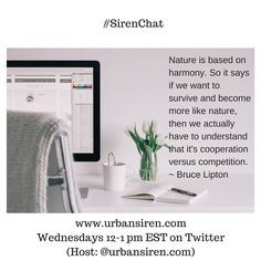 """Each Wednesday, I love hosting #SirenChat on Twitter. Join us from 12-1 pm EST: @urbansiren. Our latest Twitter chat centered around """"competition."""" Check out more and the transcript on the blog: www.urbansiren.com/blog."""