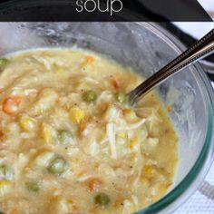 Simple crock pot chicken soup