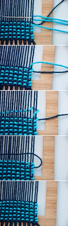 Tutorial on the Three Colored Weave   The Weaving Loom