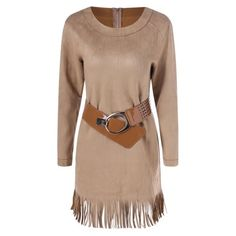 28.31$  Watch here - http://diqk9.justgood.pw/go.php?t=201304701 - Sueded Fringe Belted Dress