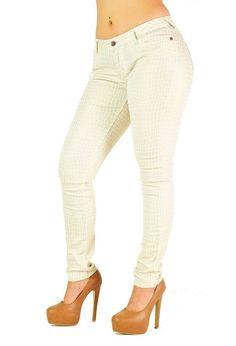 Chloe Coated Giraffe Animal Print Jeans --- Poetic Justice Jeans for Curvy Women #PoeticJusticeJeans #SlimSkinny
