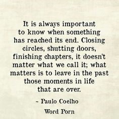 Wow... so true. You cannot fully embrace your destiny while still clinging to the past. Feels good to let go!!