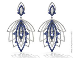 Sapphires and diamonds, white gold. Alexander Arne