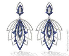 Sapphires and diamonds, white gold. Alexander Arne