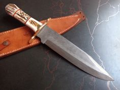 CUSTOM HAND MADE HUNTING FIXED BLADE KNIFE (SP1648)