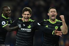 Marcos Alonso showed wonderful composure in front of goal, particularly with his first effort