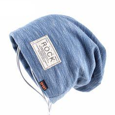 Autumn Hip Hop Cap Winter Beanies Men Hats Rock Logo Casual Cap Turban Hat Bonnet Plus Velvet Caps Cool Beanies, Men's Beanies, Beanie Hats, Slouchy Beanie, Best Winter Hats, Winter Hats For Men, Winter Beanies, Winter Caps, Casual Fall