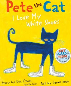 """Your kids will love this Pete the Cat inspired activity! We have been reading many of the """"Pete the Cat"""" books by Eric Litwin and the latest book we read was """"Pete the Cat: I Love My White Shoes. In this book, Pete the Cat takes a walk This Is A Book, The Book, Great Books, My Books, Music Books, Story Books, Art Music, Beste Songs, Just Keep Walking"""