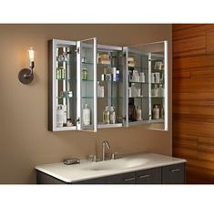 croydex 30 in x 26 in recessed or surface mount tri view beveled rh gr pinterest com