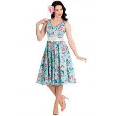 Robe Rockabilly Pin-Up Rétro 50's Fleurs Lacy