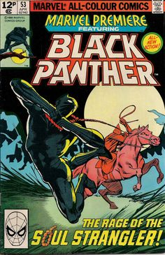 MARVEL PREMIERE # 53 MARVEL COMICS BLACK PANTHER 1980 vf(8.0) ~~