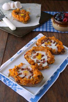 Twice Baked Breakfast Sweet Potato   Plaid & Paleo