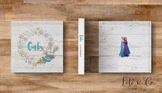 Diagrmação de álbuns - Aniversário Frozen Gabi