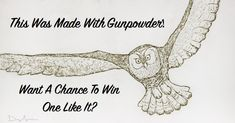 Love Unique Art? Enter For A Chance To Win A Free Gunpowder Painting By Danny Shervin!