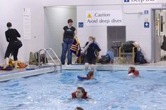 Swim 100 yards while wearing a PFD. A variation of the side or breaststroke is recommended. Toronto Island, Water Safety, 100 Yards, Diving, Have Fun, Swimming, Club, Night, Swim