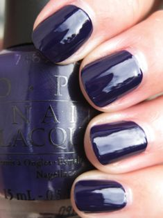 OPI Sapphire in the snow -- perfect wedding color to match my ring