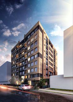 Urban K – Un proyecto de A KORN ARQUITECTOS Korn, Multi Story Building, Urban, Apartments, Architects, Buildings