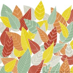Autumn starts today so I made a pattern about the falling leafs :)