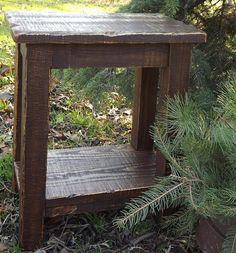 Rustic/ Reclaimed Wood/ Farmhouse/ Stool/ Sitting Stool/ Walnut Stain/ Small…
