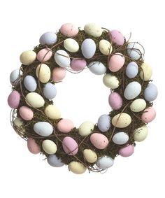 Love this Moss Easter Egg Wreath on #zulily! #zulilyfinds