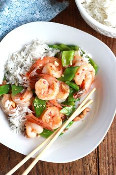 {sweet chili shrimp stir-fry} weekday tip: purchasing already cleaned + deveined shrimp is a huge time saver!