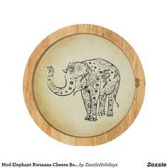 Mod Elephant Kwanzaa Cheese Board