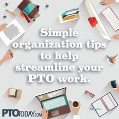 10 ideas to help PTO and PTA leaders get organized in 2015! From the PTO Today blog. #no #clutter