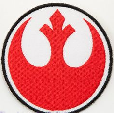"Rebel Alliance Embroidered Iron on Patch (3"") Star Wars Jedi Knight Costume Cosplay Badge Applique Motif Souvenir Collectible Retro"
