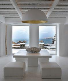 Dining Room At Cavo Tagoo, Mykonos Greece Design, Beach House Decor, Best Interior, House Design, White Houses, Coastal Living Rooms, Best Interior Design, House Interior, Interior Architecture