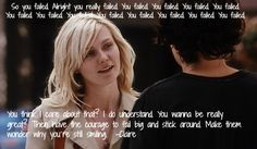 You failed, you failed.... You think I care about that? -Elizabethtown