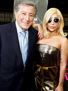 "Star Tracks: Friday, February 6, 2015 | CHEEKY MOMENT | Lady Gaga and Tony Bennett strike a pose as they rehearse for their ""Cheek to Cheek"" performance for Sunday's Grammy Awards on Thursday in L.A."