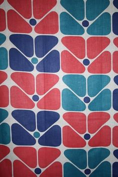 Retro fabric on Etsy