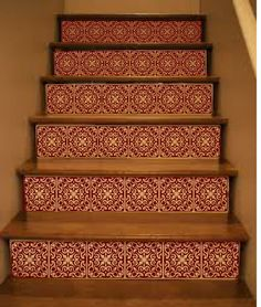 Stair Stickers Ornate Vinyl Tile Decals For Stair By Crowbabys