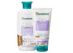 Himalaya Baby Lotion 200ml and Cream 100g Combo At Rs.126