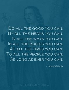 Encouragement from John Wesley